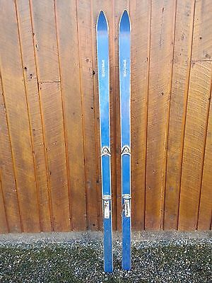 "VINTAGE 72"" Skis BLUE Finish with Metal Bindings"