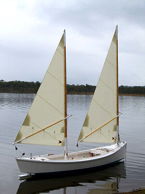 Twin masted wooden sailing boat