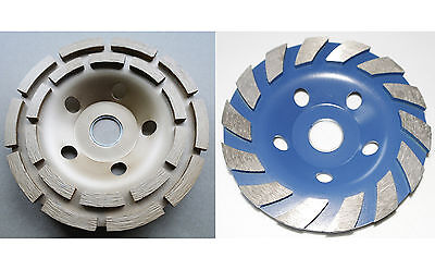 """2* 5"""" 125mm diamond grinding disc grinder cup wheel stone marble concrete"""