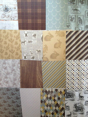 "12 sheets  8x8/"" Scrapbook Backing Papers Dovecraft Couture Du Jour vintage"