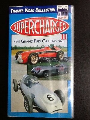 VHS tapes. SUPERCHARGED II  The Grand Prix Car 1945-65, Redline, Crashes