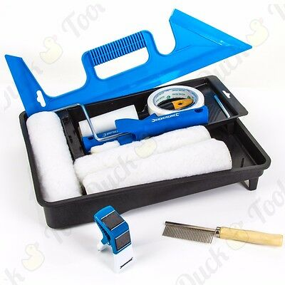PROFESSIONAL SILVERLINE PAINTERS SETS Decorator Paint Brush Roller Screen Tray