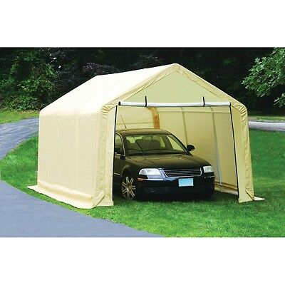 10 ft. x 17 ft. Fully Enclosed Portable Garage