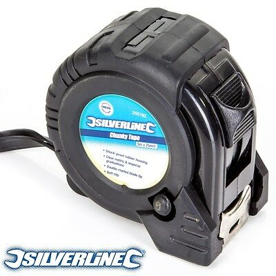 5M/16Ft CHUNKY TAPE MEASURE Imperial/Metric Measurements Builders Pocket Size
