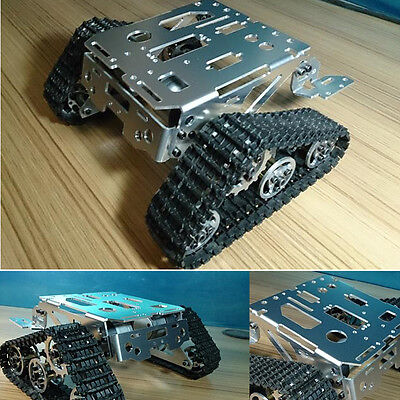 Metal Robot Tank Crawler Chassis For Arduino Smart Car Education Competition