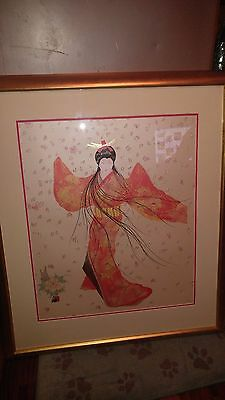 Hisashi Otsuka - Lady Of The Floating Blossoms Mixed Media Signed And Numbered
