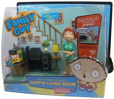 Family Guy Intellitronic Griffin Family Living Room with Lois Figure