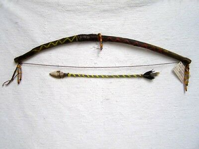 AUTHENTIC HANDMADE Native American APACHE Warrior Bow with Arrow by Bear Romero