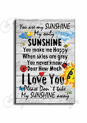 You are My SUNSHINE Wooden Sign, SUNSHINE Retro Novelty Wooden Plaque
