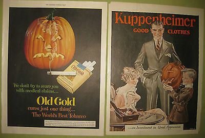 Bundle of 2 Antique Halloween Advertisements