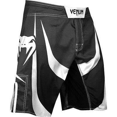 Venum Predator X Fight Shorts UFC NoGi MMA BJJ Black Ice White
