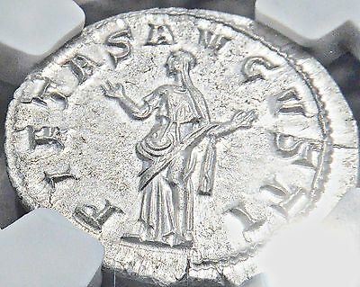 MINT STATE Roman Emperor Gordian III Silver Denarius, un-used? but 1776 yrs old!