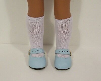 "LT BLUE Splendid Doll Shoes For 14"" American Girl Wellie Wisher Wishers (Debs)"