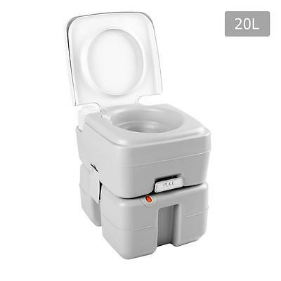 Camping Toilet 20 Litre Portable 12 Litre Water Reserve Double Seal Drainage