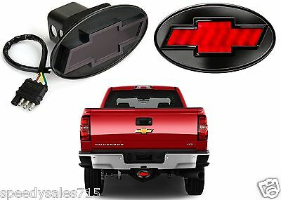 Reese Towpower 86530 Black Finish Chevrolet Bowtie Lighted Hitch Cover New USA