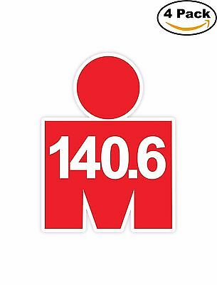 Iron Man Triathlon 140.6 Vinyl Sticker Decal 4 Stickers