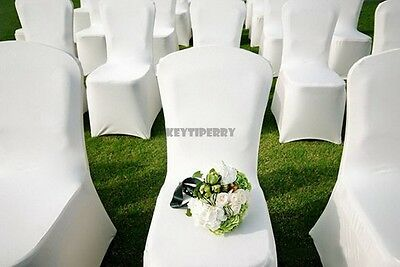 100 Chair Covers Spandex Lycra Wedding Banquet Anniversary Party Decor KTPY