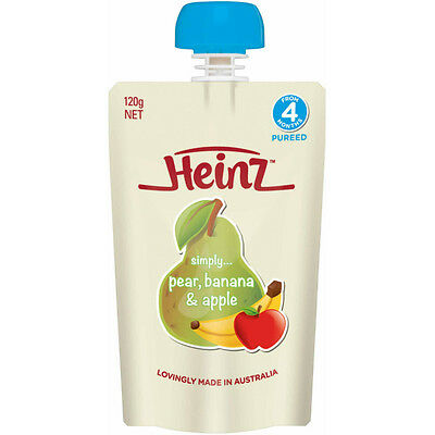 Heinz Simply Pear/Apple/Banana 120G NEW Cincotta Chemist