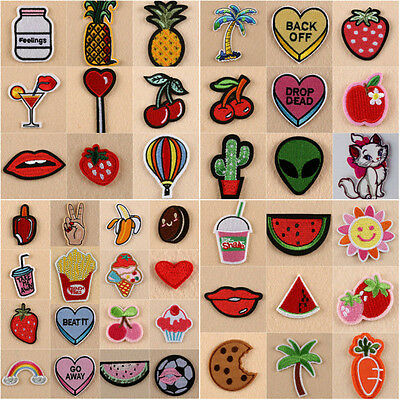 Multi Style Embroidery Sew/Iron On Patch Badge Bag Clothes Fabric Applique Craft