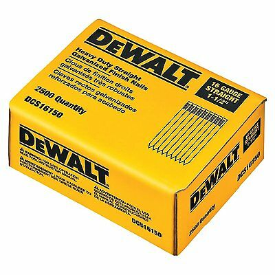 Dewalt DCS16150 1-1/2in. 16 Gauge Straight Finish Nail (2,500 per Box)