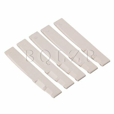 5 Sets Plastic Guitar Saddle for Acoustic Guitar Part Replacement Beige