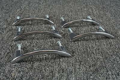 "Amerock Co. BP-419-26 Chrome Curved 3.75"" Drawer Pull Lot Of 5"