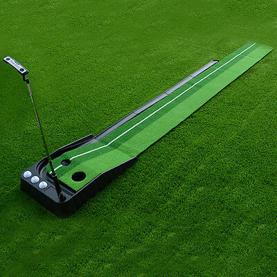 A Set of Portable Golf Practice Putting Mat Trainer Training Indoor Outdoor