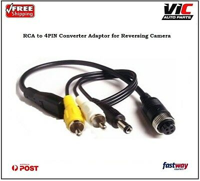 RCA Male to 4PIN Converter Adaptor for Reversing Camera