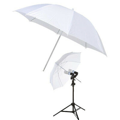 "33"" Photography Studio Translucent  Soft White Umbrella Diffuser Mount Holder"