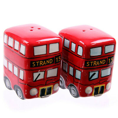 Novelty Collectable Routemaster Red Bus Table Salt and Pepper Set kitchen LON20