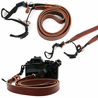 Leather Neck Belt Strap For Fujifilm X-T1 FinePix SL1000 & FinePix SL260 Cameras