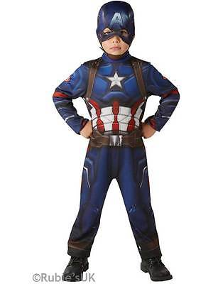 Boys 5-6yrs Captain America Classic Fancy Dress Avengers Civil War Kids Costume