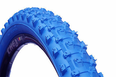 1 PAIR ( 2 TYRES ) MOUNTAIN BIKE MTB TYRES TIRES 26 x 2.10 ALL BLUE  M1101