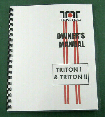 Tentec Triton I and II Operating Manual new with protective covers