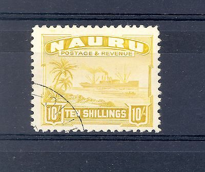 Nauru Sg 39B Gvi 10/- Ship Fine Used
