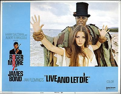 James Bond 007   Live And Let Die  8  Photos Cinema / American Lobby Cards 1973