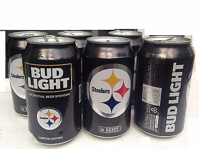 2016 NFL Pittsburgh Steelers Empty Bud Light Kickoff Cans 6 Pack