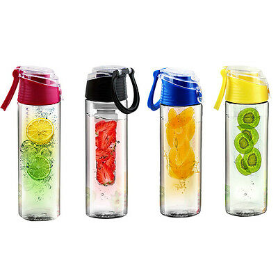 700ML Outdoors Fruit Plastic Juice Cup Travel Sports Portable Water Bottle