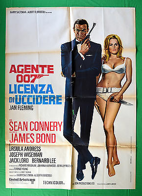 M26 Manifesto 2F James Bond Agente Segreto 007 Licenza Di Uccidere Mr No Connery
