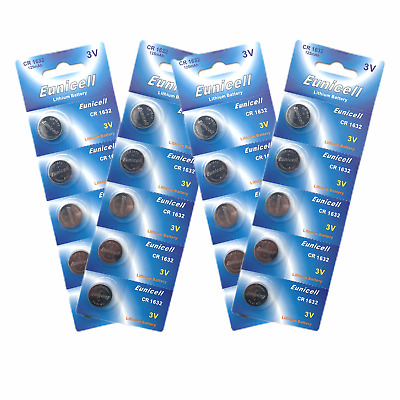 20 x CR1632 batteries DL1632 KL1632 BR1632 L1632 3v button coin cell Eunicell