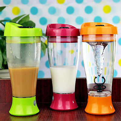 400ML Electric Water Bottle Protein Powder Shaker Blender Cup Automatic Bottle