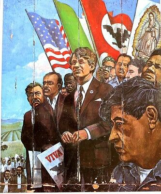 CAESAR CHAVEZ - ROBERT KENNEDY United Farm Workers SOCIAL JUSTICE POSTER 1960'S