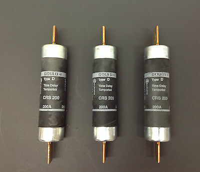 Gould Crs 200 Time Delay Fuse 600V Type D Lot Of 3 **tested** (D953)