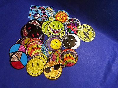 60  Smiley Face Vintage Vending Machine Stickers Assorted   B