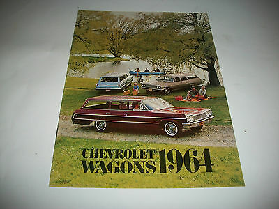 1964 Chevrolet Station Wagons Brochure Bel Air Biscayne Impala Chevy Ii Chevelle