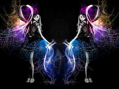 Quality LED Flow Arts Glowing Fiber dance sparkle NEW 6 foot long version Whip