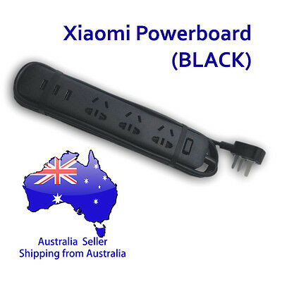 Xiaomi Power Board (Mi Powerboard) - Black (3 sockets, 3 USB ports) Restocked!!
