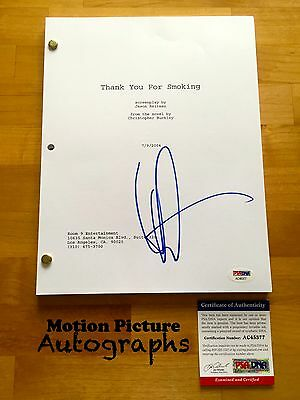 Aaron Eckhart Signed Thank You For Smoking Full Movie Script 114 Pages Psa Coa