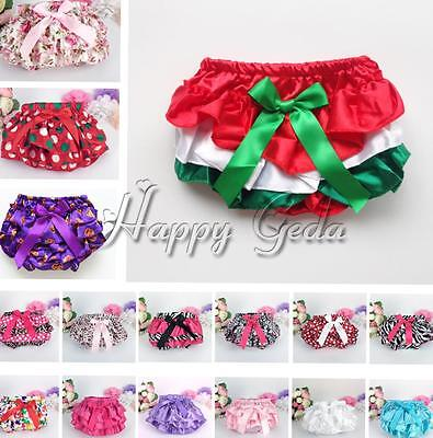 Baby Girl Kids Infant Ruffle Bloomers Shorts Bottoms Toddler Nappy Cover Panties