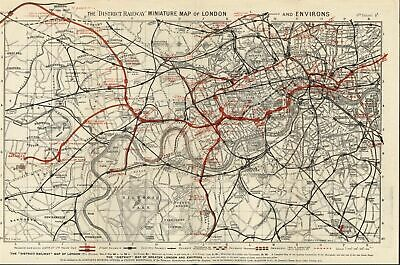 London District Railway map 1904 environs electric proposed being constructed